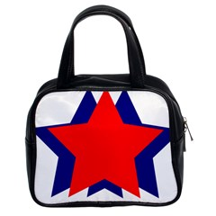 Stars Red Blue Classic Handbags (2 Sides) by Mariart
