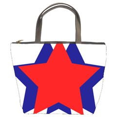 Stars Red Blue Bucket Bags by Mariart