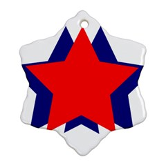 Stars Red Blue Ornament (snowflake) by Mariart