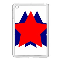 Stars Red Blue Apple Ipad Mini Case (white) by Mariart