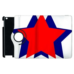 Stars Red Blue Apple Ipad 3/4 Flip 360 Case by Mariart