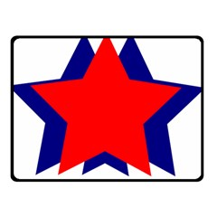Stars Red Blue Double Sided Fleece Blanket (small)