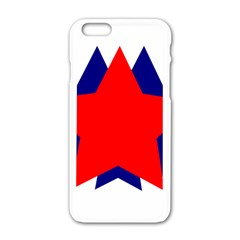 Stars Red Blue Apple Iphone 6/6s White Enamel Case by Mariart