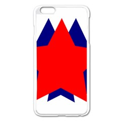 Stars Red Blue Apple Iphone 6 Plus/6s Plus Enamel White Case by Mariart