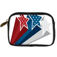 Star Red Blue White Line Space Digital Camera Cases