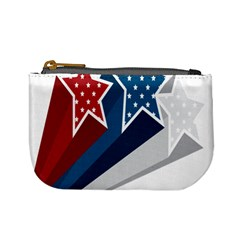 Star Red Blue White Line Space Mini Coin Purses by Mariart
