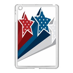 Star Red Blue White Line Space Apple Ipad Mini Case (white) by Mariart