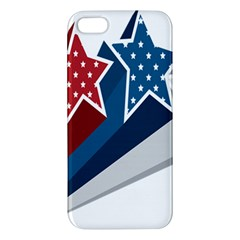 Star Red Blue White Line Space Apple Iphone 5 Premium Hardshell Case by Mariart
