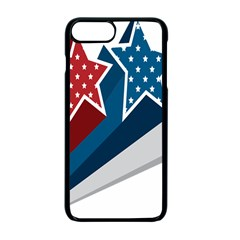 Star Red Blue White Line Space Apple Iphone 7 Plus Seamless Case (black) by Mariart