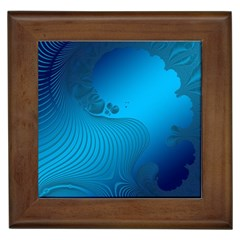 Fractals Lines Wave Pattern Framed Tiles by Nexatart