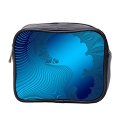 Fractals Lines Wave Pattern Mini Toiletries Bag 2 Side by Nexatart