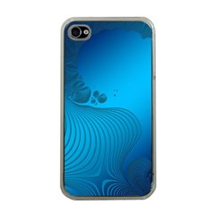 Fractals Lines Wave Pattern Apple Iphone 4 Case (clear) by Nexatart