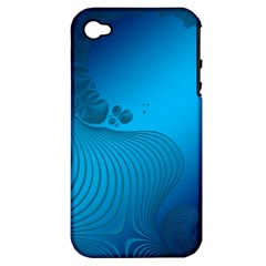 Fractals Lines Wave Pattern Apple Iphone 4/4s Hardshell Case (pc+silicone) by Nexatart