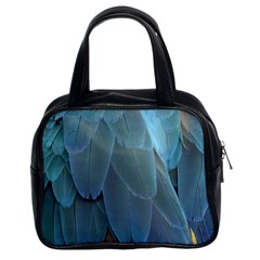 Feather Plumage Blue Parrot Classic Handbags (2 Sides)