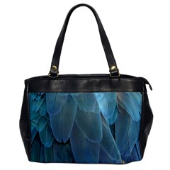 Feather Plumage Blue Parrot Office Handbags