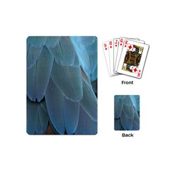 Feather Plumage Blue Parrot Playing Cards (mini)  by Nexatart