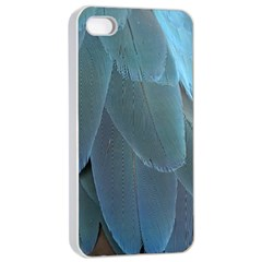 Feather Plumage Blue Parrot Apple Iphone 4/4s Seamless Case (white)