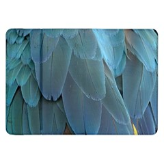 Feather Plumage Blue Parrot Samsung Galaxy Tab 8 9  P7300 Flip Case by Nexatart