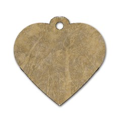 Abstract Forest Trees Age Aging Dog Tag Heart (one Side) by Nexatart