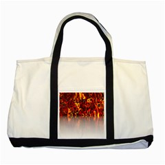 Effect Pattern Brush Red Orange Two Tone Tote Bag