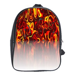 Effect Pattern Brush Red Orange School Bags(large)