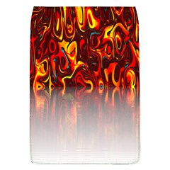 Effect Pattern Brush Red Orange Flap Covers (l)  by Nexatart