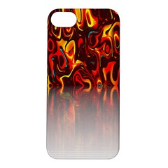 Effect Pattern Brush Red Orange Apple Iphone 5s/ Se Hardshell Case by Nexatart