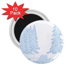 Winter Snow Trees Forest 2 25  Magnets (10 Pack)  by Nexatart