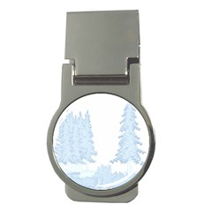 Winter Snow Trees Forest Money Clips (round)