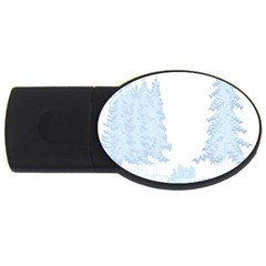 Winter Snow Trees Forest Usb Flash Drive Oval (2 Gb) by Nexatart