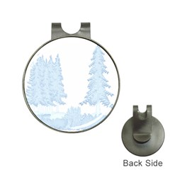 Winter Snow Trees Forest Hat Clips With Golf Markers