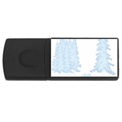 Winter Snow Trees Forest Usb Flash Drive Rectangular (4 Gb) by Nexatart
