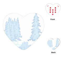 Winter Snow Trees Forest Playing Cards (heart)