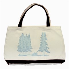 Winter Snow Trees Forest Basic Tote Bag