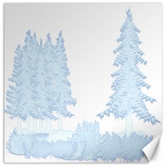 Winter Snow Trees Forest Canvas 16  X 16