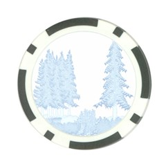 Winter Snow Trees Forest Poker Chip Card Guard