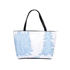 Winter Snow Trees Forest Shoulder Handbags by Nexatart