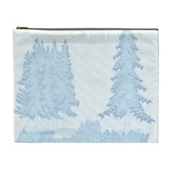 Winter Snow Trees Forest Cosmetic Bag (xl) by Nexatart