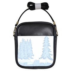 Winter Snow Trees Forest Girls Sling Bags by Nexatart