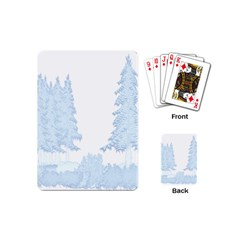 Winter Snow Trees Forest Playing Cards (mini)  by Nexatart