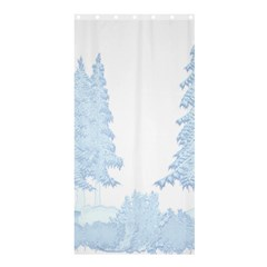Winter Snow Trees Forest Shower Curtain 36  X 72  (stall)