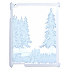 Winter Snow Trees Forest Apple Ipad 2 Case (white) by Nexatart