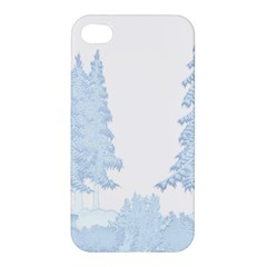 Winter Snow Trees Forest Apple Iphone 4/4s Premium Hardshell Case
