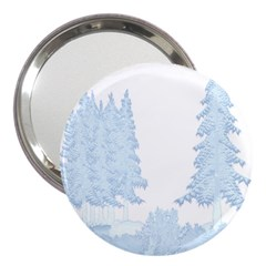 Winter Snow Trees Forest 3  Handbag Mirrors by Nexatart