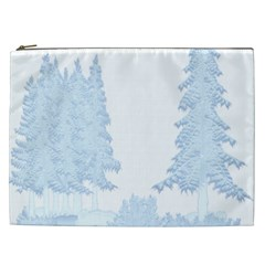 Winter Snow Trees Forest Cosmetic Bag (xxl)