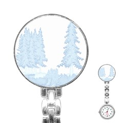 Winter Snow Trees Forest Stainless Steel Nurses Watch by Nexatart