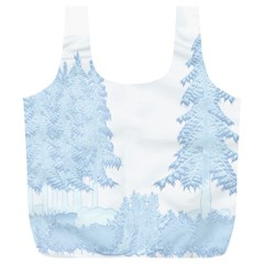 Winter Snow Trees Forest Full Print Recycle Bags (l)