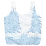 Winter Snow Trees Forest Full Print Recycle Bags (L)  Back