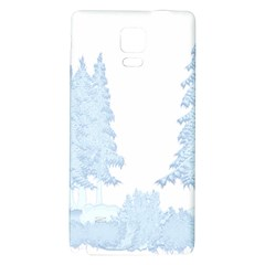 Winter Snow Trees Forest Galaxy Note 4 Back Case
