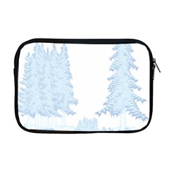 Winter Snow Trees Forest Apple Macbook Pro 17  Zipper Case